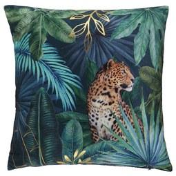 Zierkissen Jungle ca. 40x40cm - Goldfarben/Schwarz, LIFESTYLE, Textil (40/40cm) - Mömax modern living