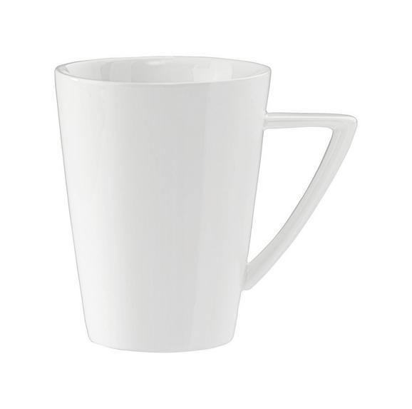 Kaffeebecher Pura aus Porzellan ca. 365ml - Weiß, LIFESTYLE, Keramik (0,365l) - Premium Living