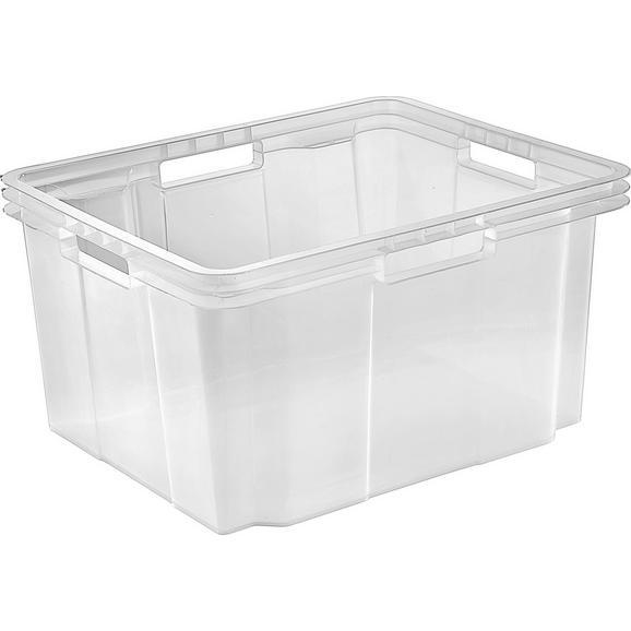 Stapelbox Kunststoff - Transparent, KONVENTIONELL, Kunststoff (43.2/23.3/35.2cm)