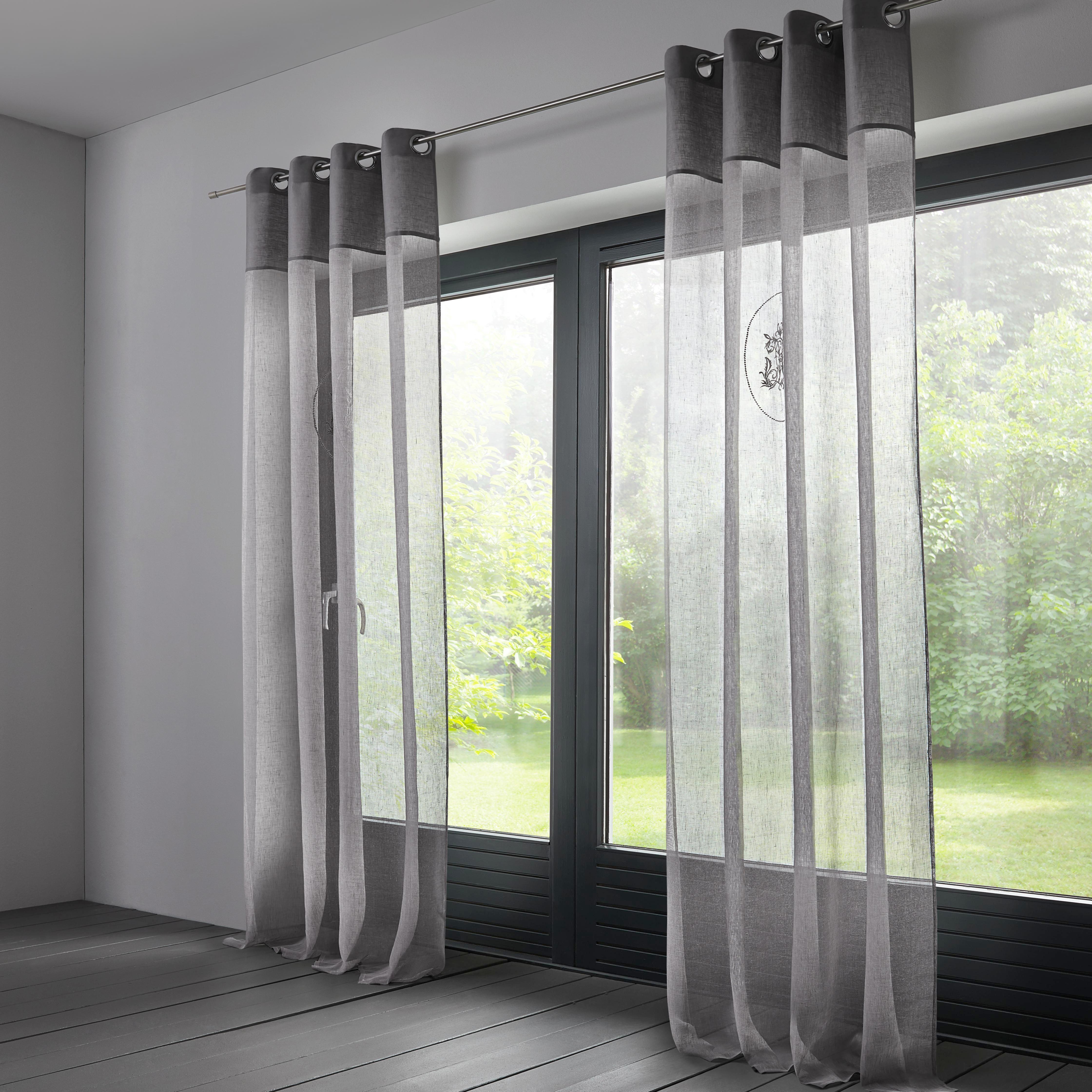 Leinenvorhang Emily 140x245cm - Hellgrau, KONVENTIONELL, Textil (140/245cm) - MÖMAX modern living
