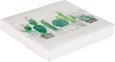 Serviette Cactus Garden Weiß/grün - Smaragdgrün/Weiß, Papier (33/33cm)
