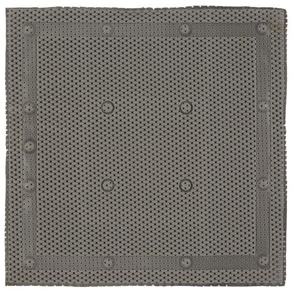 Duscheinlage Nelly in verschiedenen Farben - Weiß/Grau, Kunststoff (52/52cm) - Mömax modern living