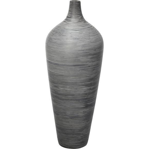 Vase Marlene Schwarz - Schwarz, Kunststoff (30/80cm) - Mömax modern living