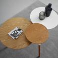 Couchtisch aus Ulme in Weiß ca.92,5x64cm 'Ryan' - Ulmefarben/Weiß, MODERN, Holz/Metall (92,5/64/50cm) - Bessagi Home
