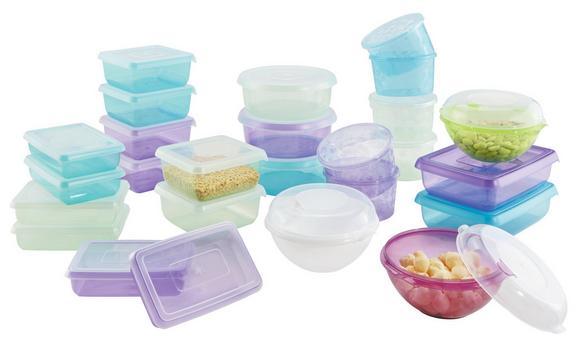 Set de recipiente Mona - Turcoaz/Mov, Material plastic (0,13-5l) - Mömax modern living