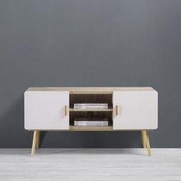 TV-möbel Claire - Eichefarben/Weiß, MODERN, Holz (120/60/39cm) - Mömax modern living