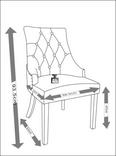 Stuhl Mila - Eichefarben/Grau, MODERN, Holz/Textil (56,5/93,5/63cm) - Mömax modern living