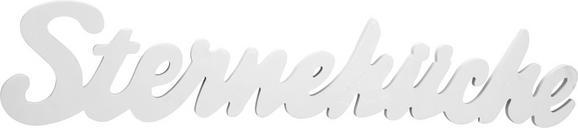 Dekobuchstaben Sterneküche  in Weiß - Weiß, MODERN, Holzwerkstoff (88/17,5/1,2cm) - Mömax modern living
