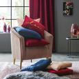 Zierkissen Zippmex, ca. 50x50cm - Rosa, Textil (50/50cm) - Based