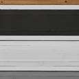 Buffet in Braun/Grau/Weiß 'Florina' - Braun/Weiß, MODERN, Glas/Holz (125/175/32cm) - Bessagi Home