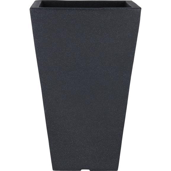 Übertopf Capri Anthrazit - Anthrazit, MODERN, Kunststoff (35/35/55cm) - Mömax modern living