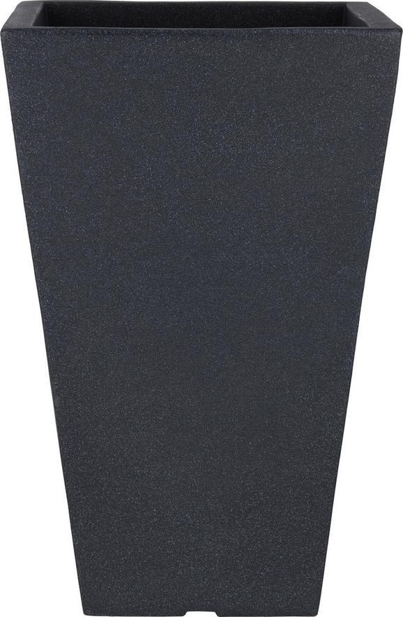 Übertopf Capri in Anthrazit - Anthrazit, MODERN, Kunststoff (35/35/55cm) - Mömax modern living