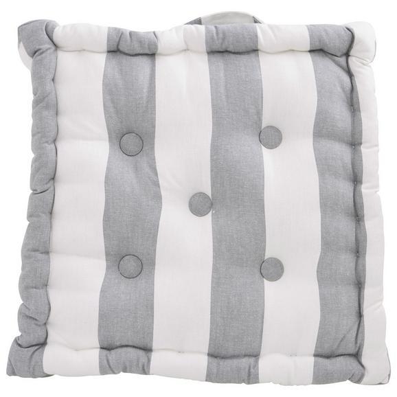Ülőpárna Blockstreif - Szürke/Fehér, Textil (40/40/8cm) - Mömax modern living