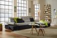 Wohnlandschaft Grau mit Bettfunktion - Chromfarben/Schwarz, MODERN, Metall (305/187cm) - Premium Living
