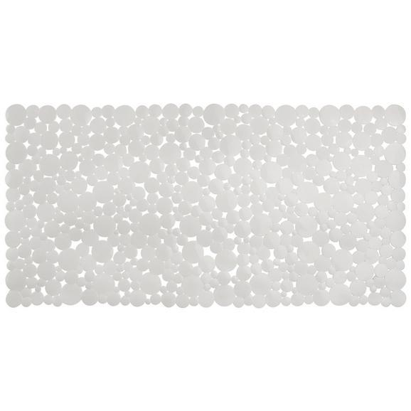 Badewanneneinlage Stone in verschiedenen Farben - Schwarz/Weiß, Kunststoff (77/39cm) - Mömax modern living