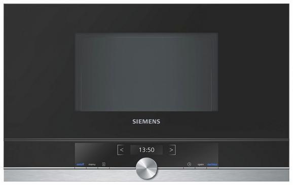 Einbaumikrowelle Siemens Bf634rgs1, 1220 Watt - ROMANTIK / LANDHAUS, Glas/Metall (59,4/38,2/31,8cm) - Siemens