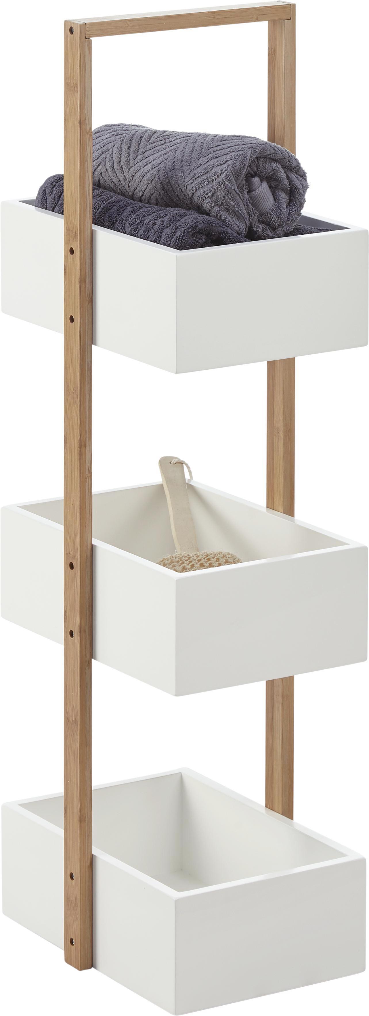Superb Badezimmer Regal #8: Badezimmerregal Mirella - Naturfarben/Weiß, MODERN, Holz (32/89,5
