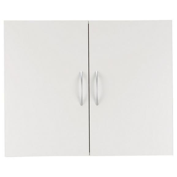 Viseča Omara Mrk - aluminij/bela, umetna masa/leseni material (80/64/40cm) - Mömax modern living