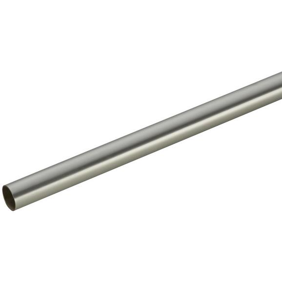 Vorhangstange Combi aus Stahl, ca. 120cm - Edelstahlfarben, Metall (120cm) - Mömax modern living