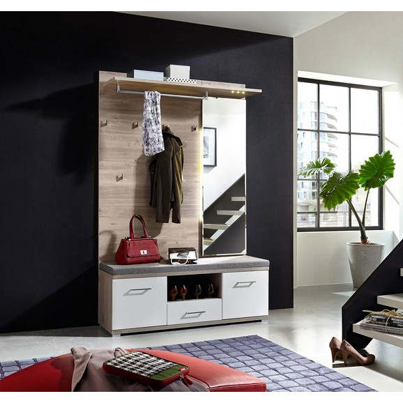 garderobe in wei silbereiche online kaufen m max. Black Bedroom Furniture Sets. Home Design Ideas