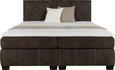 BOXSPRINGBETT Braun 160x200cm - Braun, Holzwerkstoff/Kunststoff (210/162/114cm) - MODERN LIVING