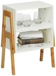 Regal Kiefer/Weiß - Weiß, MODERN, Holz/Holzwerkstoff (44/80/26cm) - Modern Living