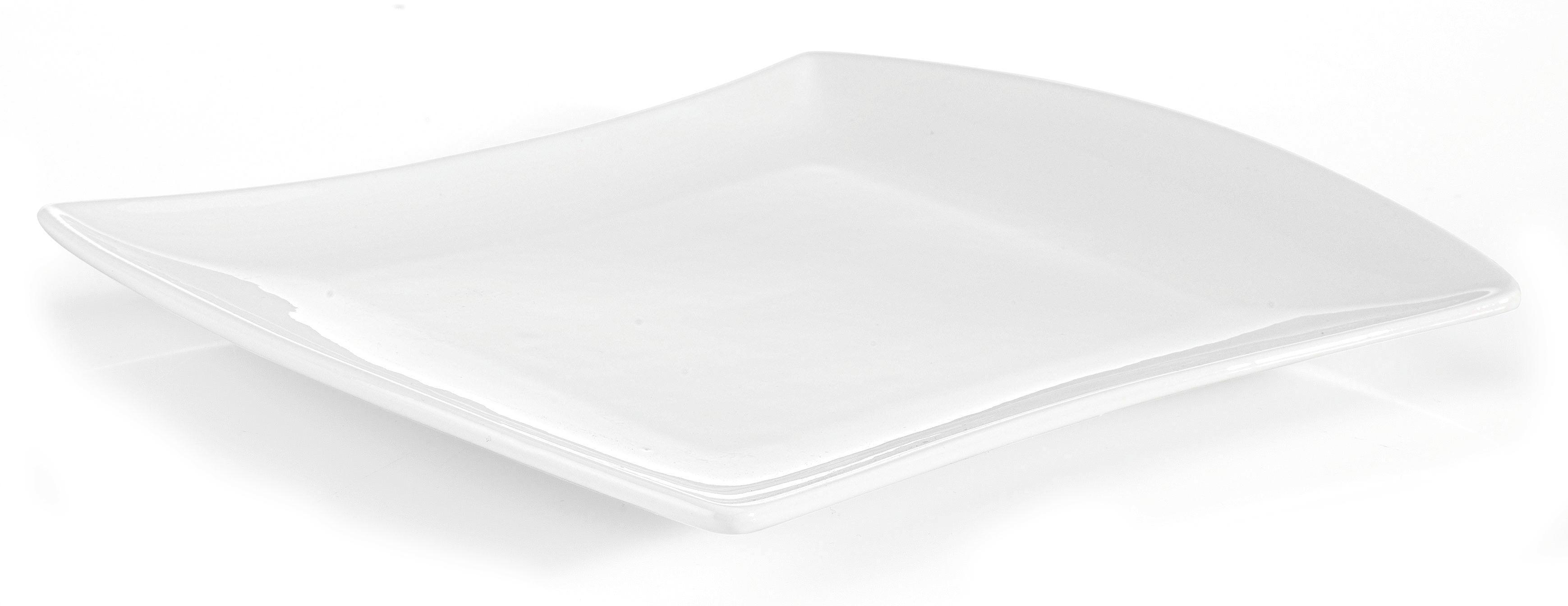 Desertni Krožnik Tacoma - bela, Trendi, keramika (18,3/21cm) - premium living