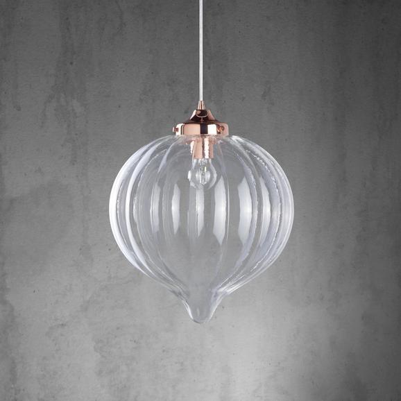 Hängeleuchte Claire - Klar/Kupferfarben, MODERN, Glas/Kunststoff (35/10cm) - Premium Living