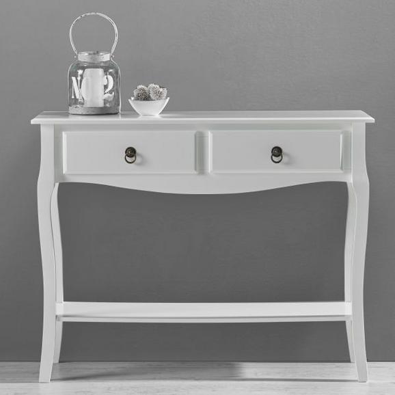Konsole in Weiß ca. 100x33cm 'Claudia Vintage' - Weiß, MODERN, Holz/Metall (100/78/33cm) - Bessagi Home