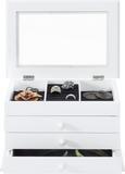 Schmuckbox Julie in Weiß - Weiß, Glas/Holzwerkstoff (25/17/15cm) - Mömax modern living