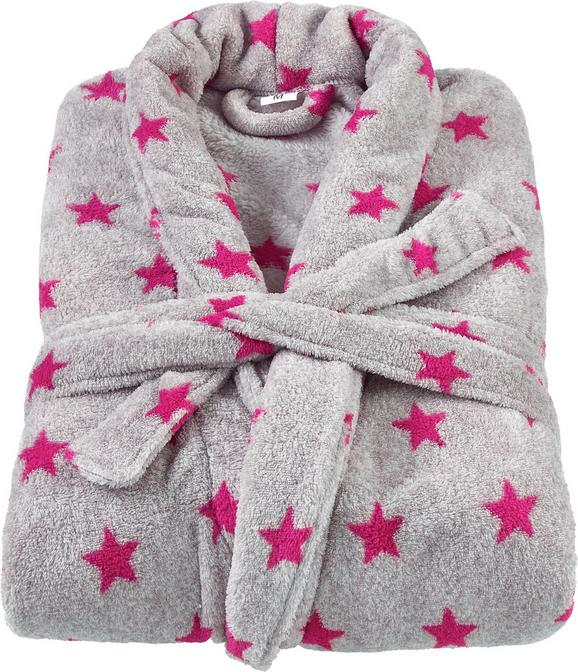 Fürdőköntös Sterne - pink/szürke, textil (S-L) - MÖMAX modern living