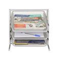 Briefablage aus Metall in Weiß - Silberfarben, Metall (35/27,5/29,5cm) - Mömax modern living