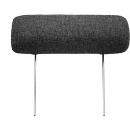 Nackenstütze Grau - Dunkelgrau, Textil/Metall (60cm) - Premium Living