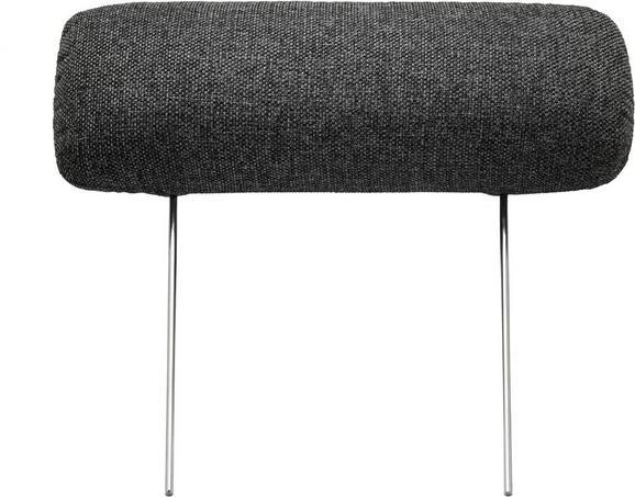 Nackenstütze in Grau - Dunkelgrau, Textil/Metall (60cm) - Premium Living