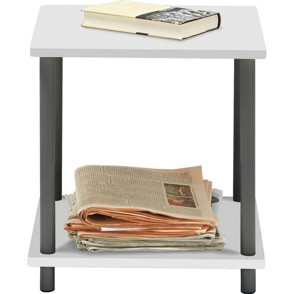Beistelltisch Weiß/Grau - Weiß/Grau, MODERN, Holzwerkstoff/Kunststoff (40/41,5/40cm) - Based