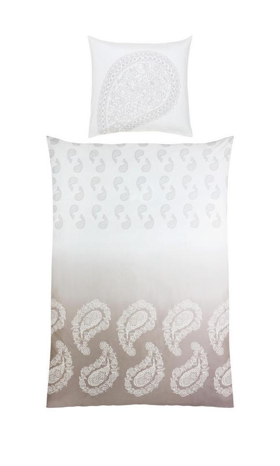 Mako-Satinbettwäsche Paisley Paisley ca.135x200 cm - Taupe/Weiß, LIFESTYLE, Textil (135/200cm) - Premium Living