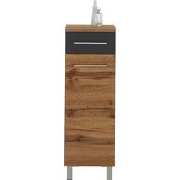 Unterschrank Eichefarben - Chromfarben/Eichefarben, MODERN, Holzwerkstoff/Metall (35/106/33cm) - Premium Living