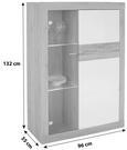 Vitrina Malta - aluminij/siva, Moderno, umetna masa/steklo (96/132/35cm) - Mömax modern living