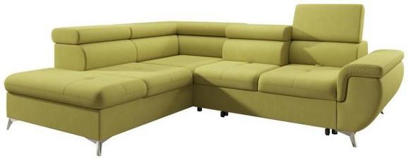 Sedežna Garnitura Monk - turkizna/rumena, Konvencionalno, tekstil (222-271/80-101/113cm) - MODERN LIVING