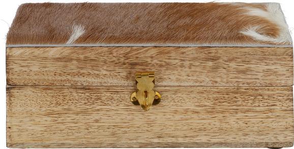 Dose Alm in Naturfarben - Naturfarben, Holz/Weitere Naturmaterialien (22/12/9cm)