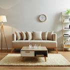 Sofa Mina Dreisitzer inkl. Rückenkissen - Naturfarben, MODERN, Holz/Textil (190/81/78cm) - Modern Living