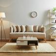 Sofa Mina inkl. Kissen - Beige, MODERN, Holz/Textil (190/78/81cm) - Modern Living