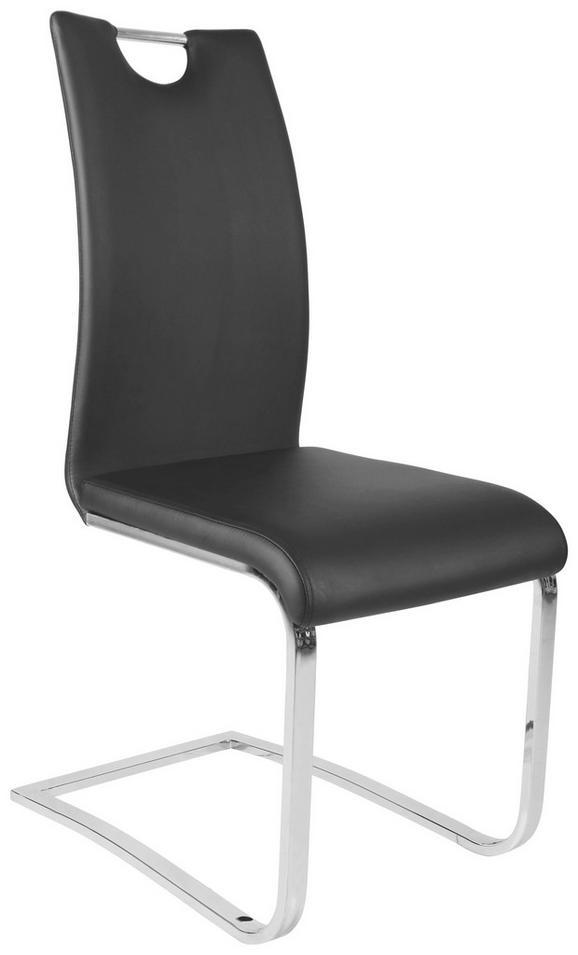 Szánkótalpas Szék Madrid - Fekete, modern, Műanyag/Fa (43/99,5/57,5cm) - Mömax modern living