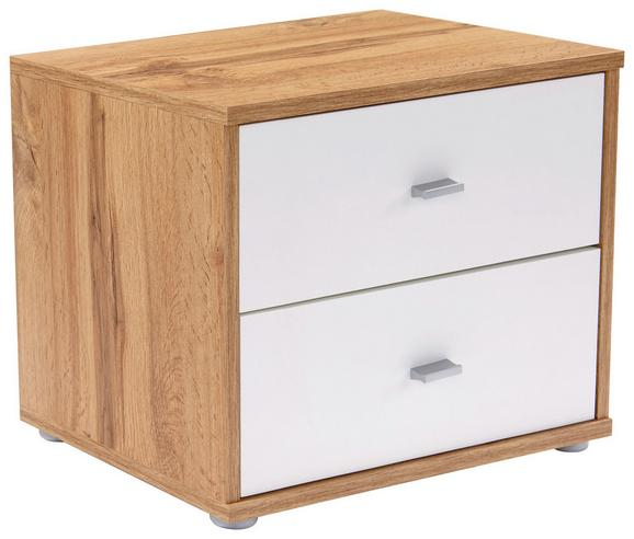 Nočna Omarica 4-you - siva/bela, Konvencionalno, umetna masa/leseni material (50/38.1/35.2cm) - Mömax modern living