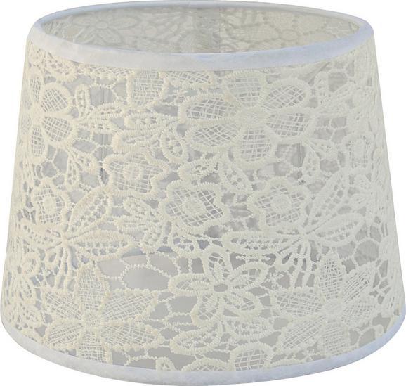 Lámpaernyő Rossi - Fehér, romantikus/Landhaus, Textil (16,5-20/15,6cm) - Mömax modern living