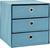 Schubladenbox Mona in Petrol ca. 32x31,5cm - Petrol, MODERN, Karton/Textil (32/31,5/32cm) - Mömax modern living