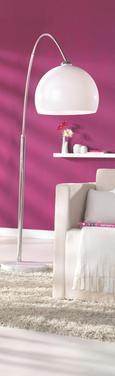 Stehleuchte Scarlett, max. 60 Watt - Silberfarben/Weiß, MODERN, Kunststoff/Stein (38/200cm) - Mömax modern living