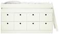 Hochbett Weiß ca. 90x200cm - Weiß, ROMANTIK / LANDHAUS, Holz/Holzwerkstoff (203,6/121/95cm) - Premium Living
