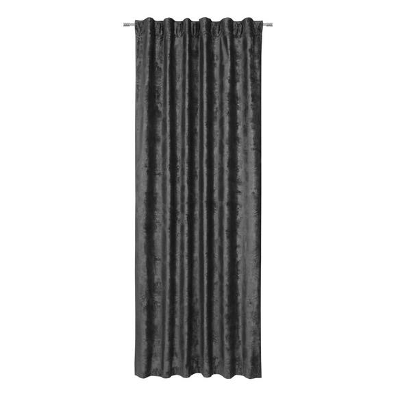 Perdea Prefabricată Marie-Louise - negru, Basics, textil (135/245cm) - Premium Living
