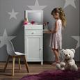 Schmuckschrank für Kinder mit Spiegel in Weiß 'Julien' - Weiß, MODERN, Glas/Holz (37,6/81,3/32cm) - Bessagi Kids
